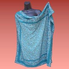 Marvelous Silk Scarf Teal Looks Good on You