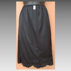 1960s Black Half Slip Fancy Lingerie