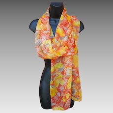 Extra Long Scarf Mint Flowing Fabric