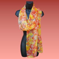 Extra Long Scarf Mint Flowing Fabric Fall