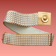 Sassy Stretch Belt Copper and White Scales Sm - Md