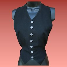 Woman's Halter Style Vest Gabardine Size Small