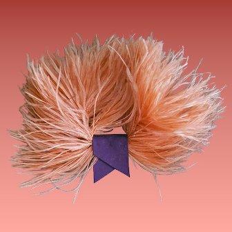 Vintage Pink Marabou Feather Flourish for Hat Fascinator