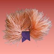 Vintage Pink Ostrich Feather Flourish for Hat Fascinator