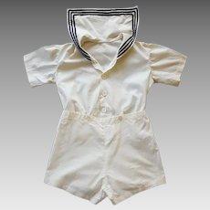 Child's 1920s - 1930s Sailor Suit Cotton Cutie