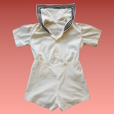Child's 1920s - 1930s Sailor Suit Cotton Cutie