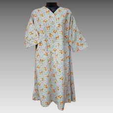 Early 1940s Cotton Dress Depression Era Housewife Size X-Lg