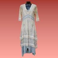 Edwardian Style Dress Age of Love Size Small - Medium