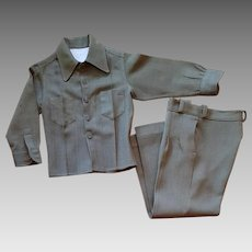 1940s Boys Suit Made from Dad's Army Dress Uniform