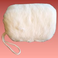 Girls White Mink Muff 1960s Minty Clean