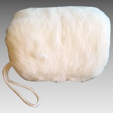 Girls White Mink Muff 1960s Minty Clean