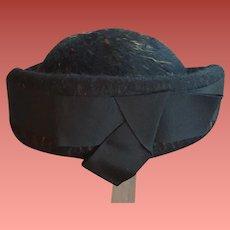 1960s Pill Box Hat Melange Heather Brown Medium