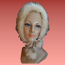 1970s Faux Fur Hat Full Warm Cover Small Medium
