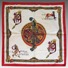 Vintage Celtic Scarf From the Book of Kells Irish