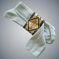 Men's 1960s Nylon Dress Socks Mint Green Medium 10 - 13