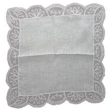 White Lace Handkerchief Wedding Christening