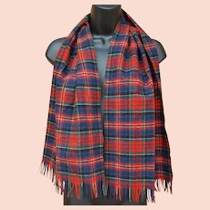MacPherson Red Dress Tartan Wool Scarf Pendleton USA