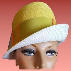 1960s Yellow Fedora Style Hat Mr. John Jr