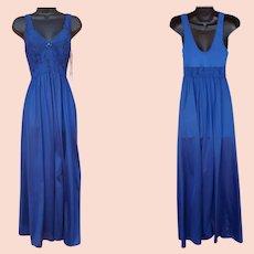 Vintage Nightgown Unworn Floor Length Size Medium