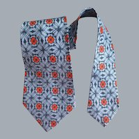 1950s Wide Necktie a Panel Cravat Mint Condition