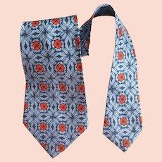 1950s Wide Necktie a Panel Cravat Mint Condition