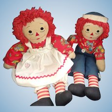 Great Old Vintage Raggedy Anne and Andy