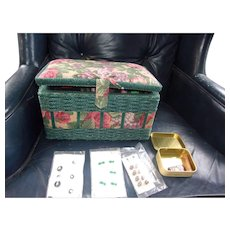 Wonderful Vintage Sewing Box Filled with Great Stuff