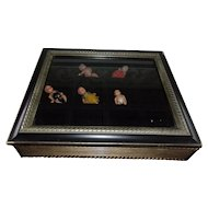 Wonderful Glass Case for Miniatures or Small Dolls