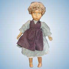 A Wonderful Vintage Artist Made Wood Doll by Zasan Wood