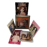 Doll Picture In Frame with 5 Vintage Doll Calendars