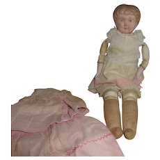 Very Strange Tin Head Doll with a Kid Leather Body Plus.....