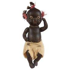 Sweet Little 4 Inch Black Bisque Baby Doll
