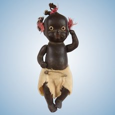 Sweet Little 4 Inch Black Bisque Baby Doll