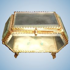 Simply Amazing Ornate Antique Bevelled Glass Box