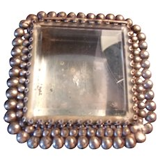 Very Interesting Art Deco Silver Plated Beveled Glass Top Case