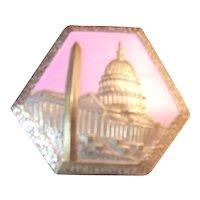 A Great Vintage Metal Souvenir Box of Washington DC