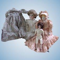 3 Vintage Artist Made Dolls
