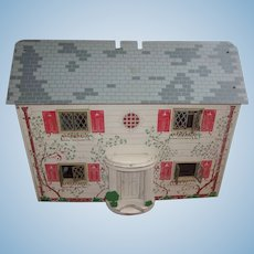 Vintage Keystone Doll House Complete with Furniture