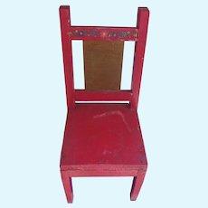 Great Vintage Folk Art Doll Chair