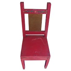 Great Vintage Folk Art Doll Chair