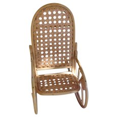 A Fantastic Bentwood Doll Rocking Chair