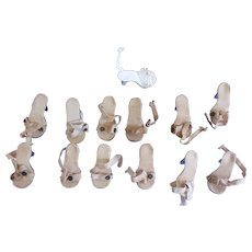 WOW ! 6 Pairs of Vintage Highheel Clear Shoes