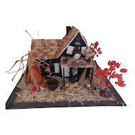 Halloween Sweet Haunted House with Lots of Miniatures ( Vintage and Antique)