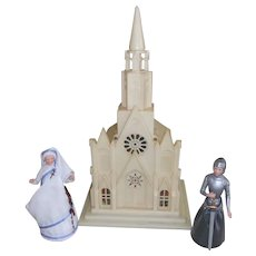 Vintage Church with Mother Theresa and Joan of Arc