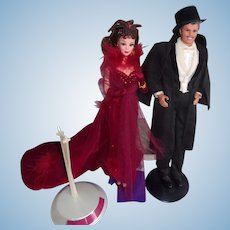 Ken and Barbie As Scarlet O'Hara and Rhett Butler ( Gone with the Wind)