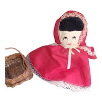 Vintage Little Red Riding Hood Topsy Turvy 3 in 1 Plush Doll