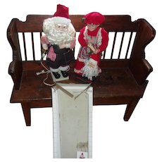 Rare Vintage Telco Motionette Santa As A Toy Maker with Mrs. Claus