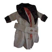Antique Doll Wool and Fur trim Coat
