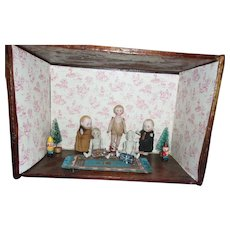 5 Beautiful Sweet All Bisque Dolls in a Room