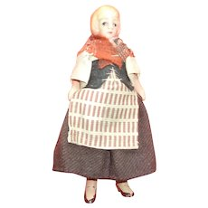 Wonderful Painted Bisque Doll House Doll (6 Inches)